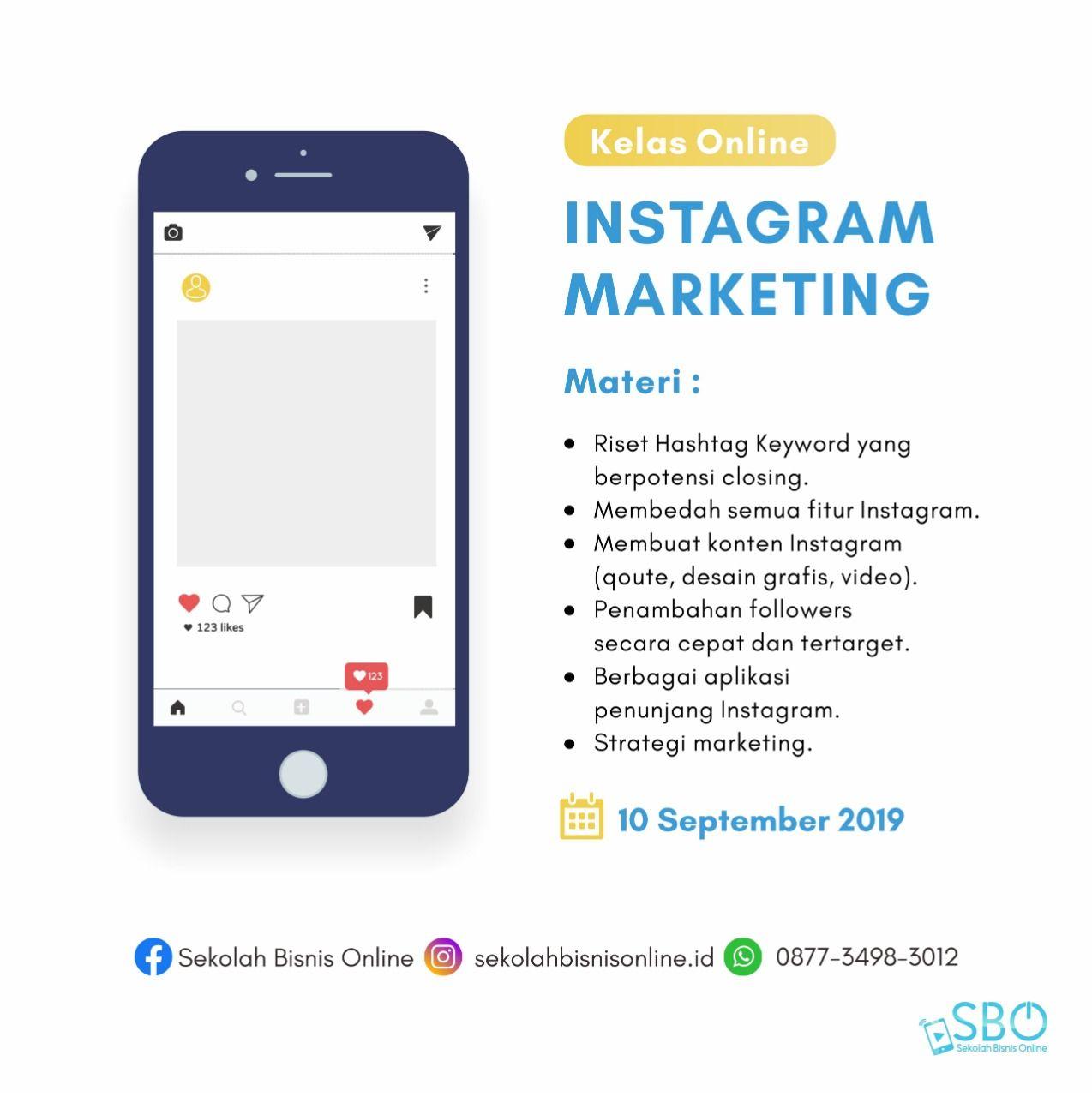 Belajar Instagram Marketing Strategi Marketing Bisnis Online Bisnis Rumahan Marketing Strategy Social Media Digital Marketing Strategy Instagram Marketing