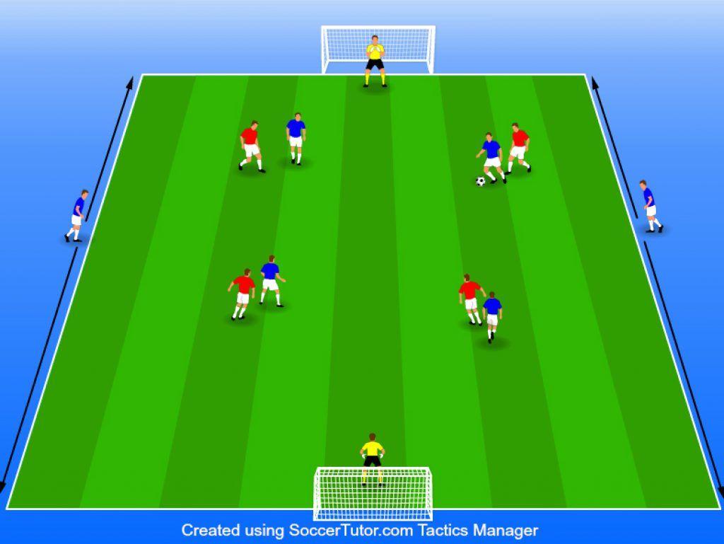 6v4 Possession Drill Soccer Drills Soccer Fun Soccer Drills