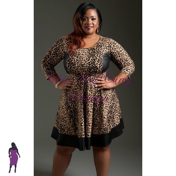 New Plus Size Skater Dress in Animal Print and Liquid available at ...