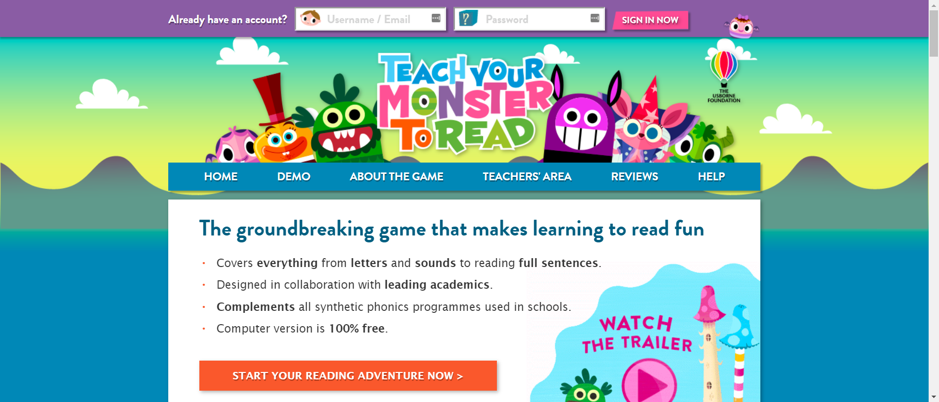 Teach Your Monster To Read Free Phonics