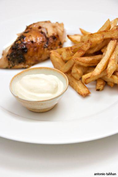 Garlic, garlic, GARLIC!!! Toum sauce.