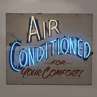 Neon Sign Air Conditioned 29 X 24 Neon Signs Prop Rental Neon