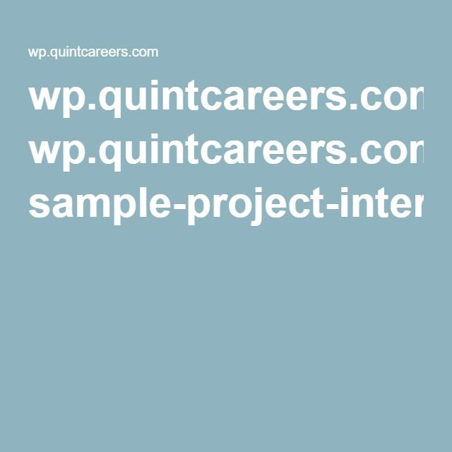 wp quintcareers com sample project internship resume pdf resumes