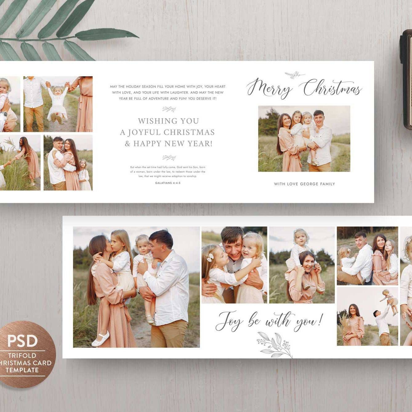 New Trifold Holiday Card Use This And Send Your Warmest Greetings For Your Clients Fami Holiday Card Template Christmas Card Template Mini Session Template