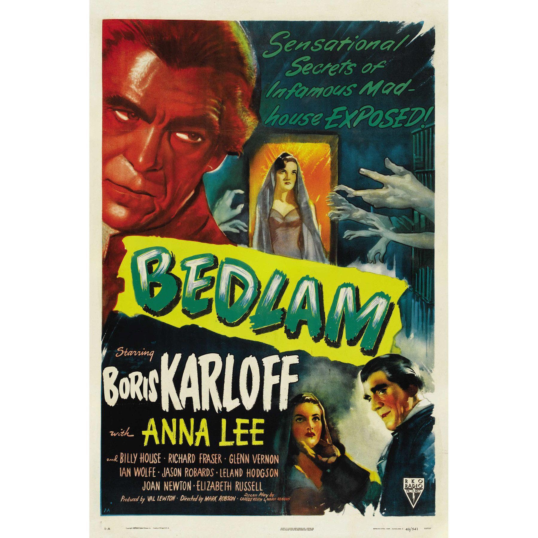 Bedlam Movie Poster Boris Karloff