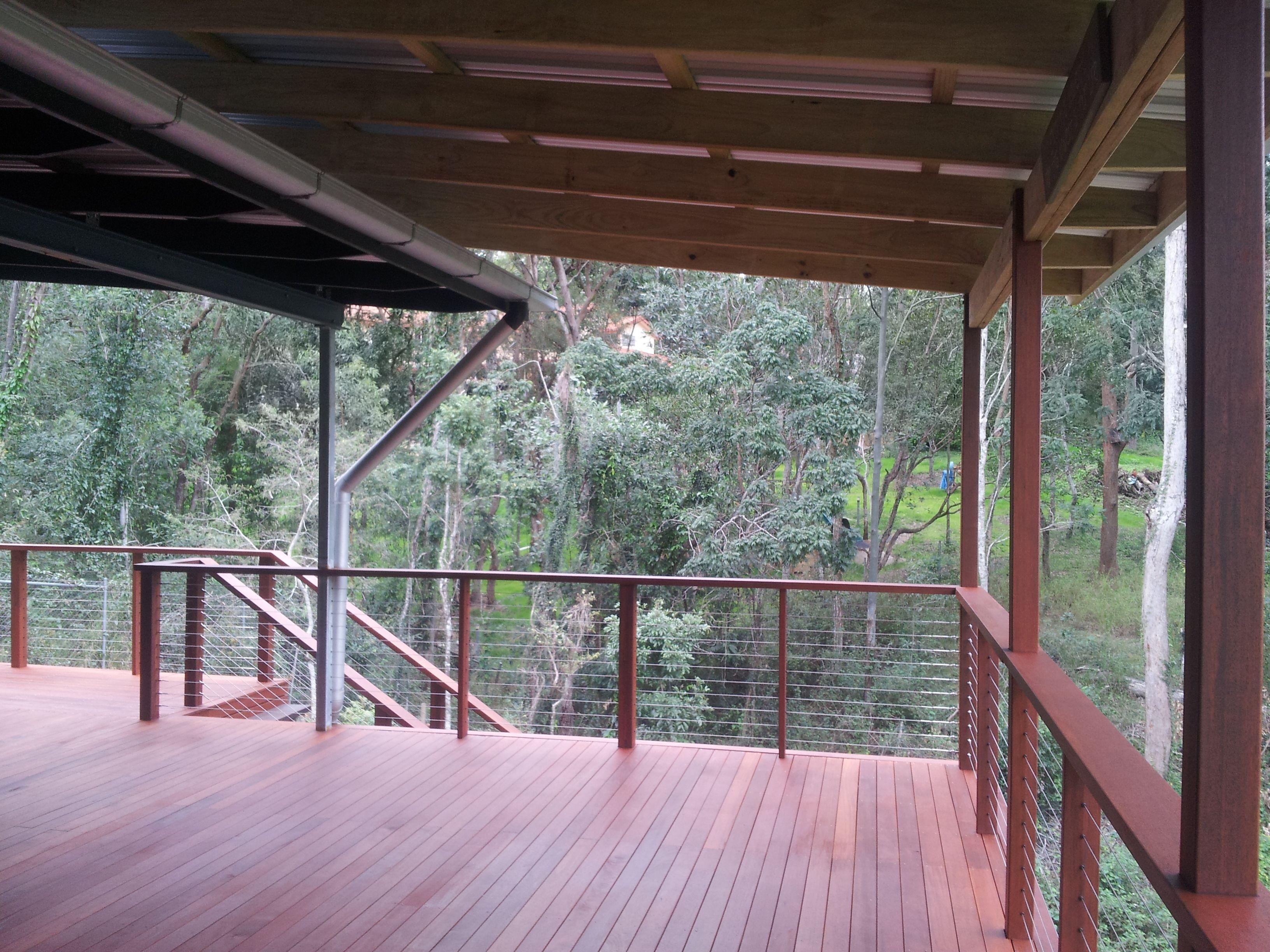 Timber Deck Kwila Decking Corrugated Roof Kwila