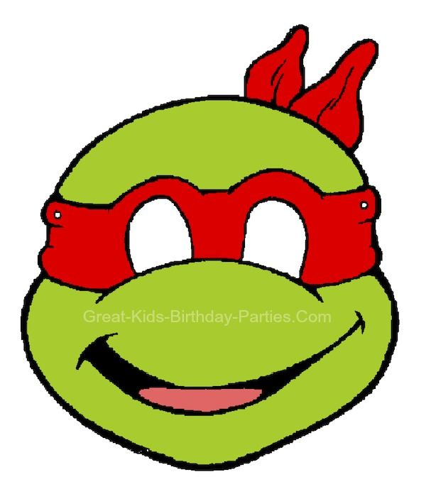 Free Printable TMNT Masks | Mutant Ninja Turtles Party | Pinterest ...
