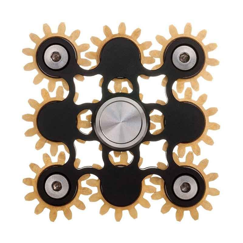 Super Cool 9 Bearing Gear Linkage Hand Tri Spinner Fid Toy EDC