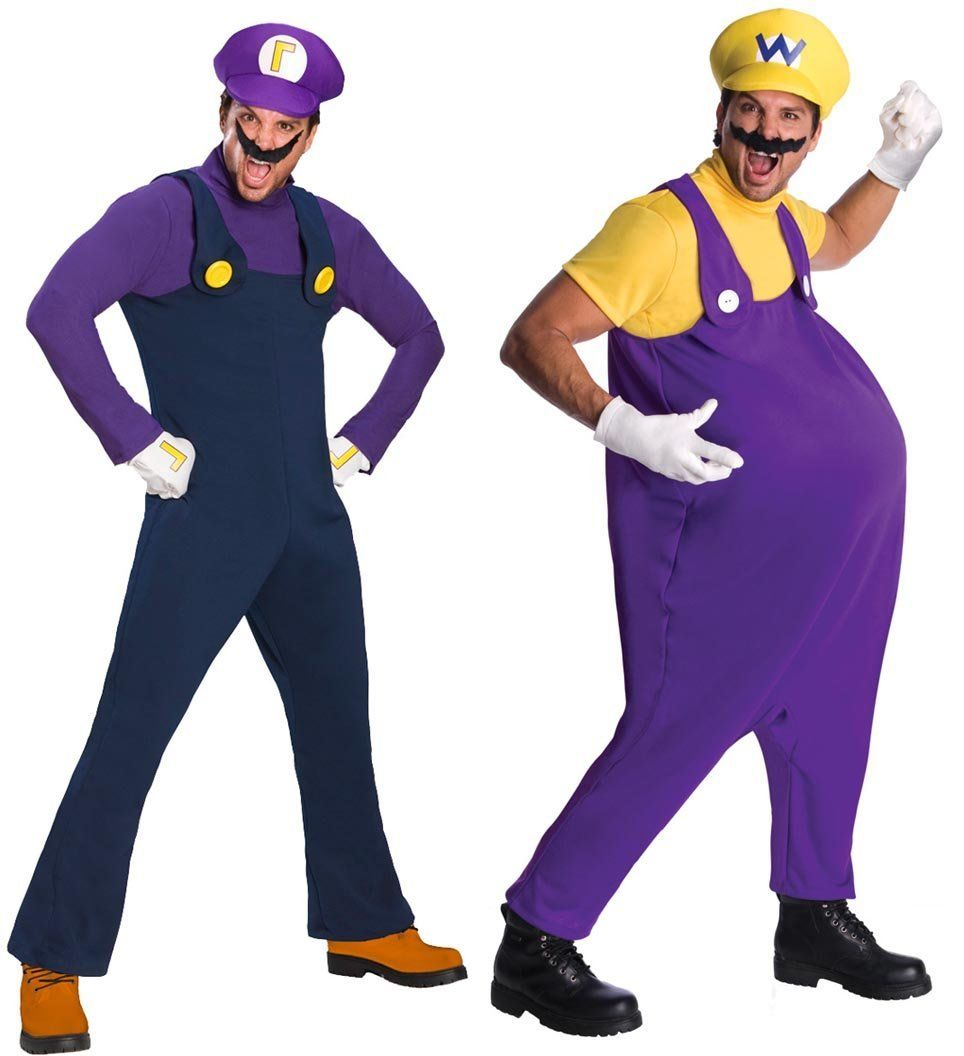 Rubie's Costume Co Super Mario Bros. Waluigi & Wario Adult ...Waluigi And Wario Costumes
