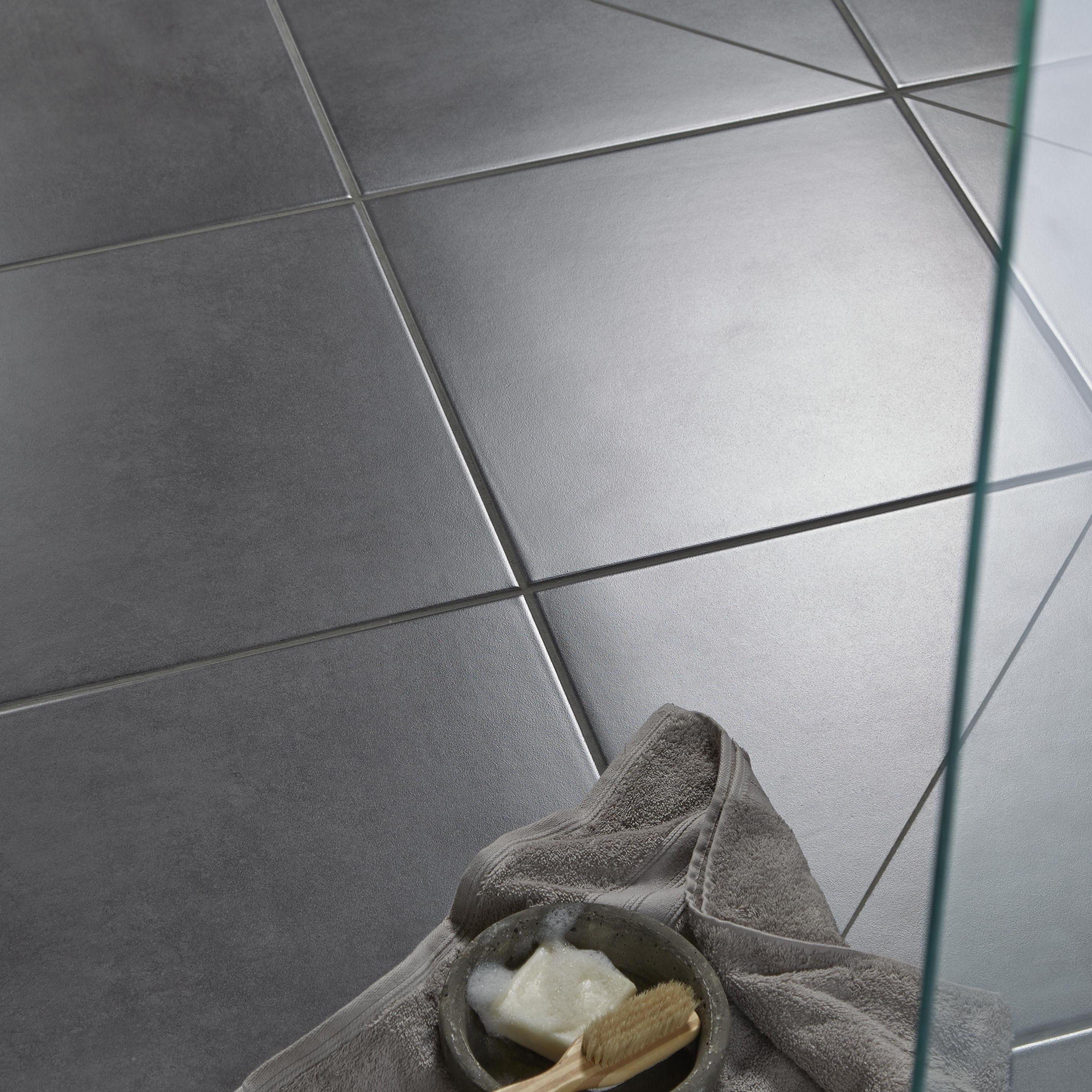 Urban White Stone Effect Ceramic Wall Floor Tile Pack: Washington Grey Stone Effect Porcelain Floor Tile, Pack Of