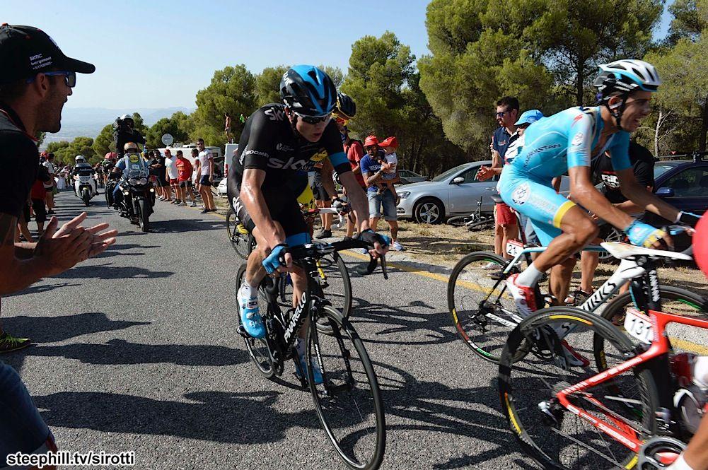 2014 vuelta-a-espana photos stage-06 - Christopher Froome (Team Sky), Fabio Aru (Astana)