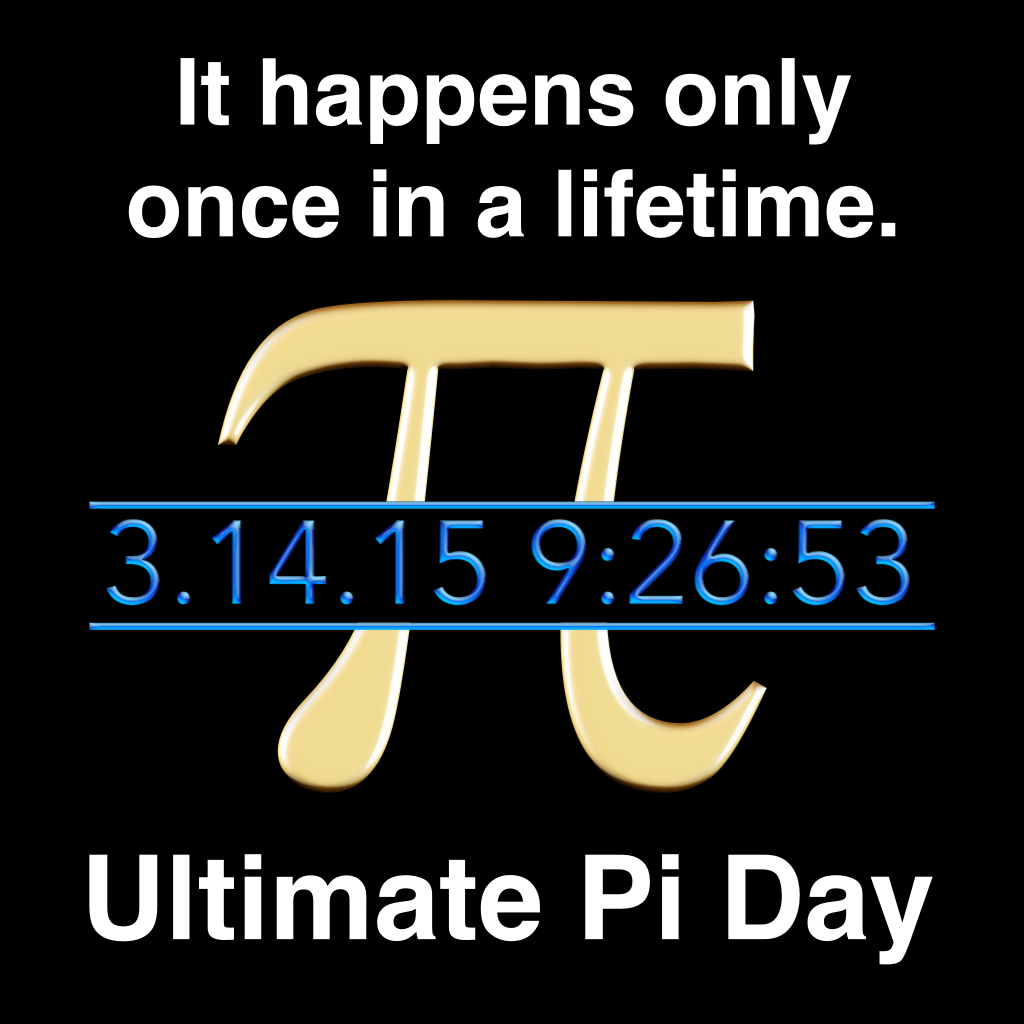 Today is the Pi Day of the century!Every March 14, math enthusiasts around the world celebrate the mathematical constant known as pi, often written simply as 3.14.Pi describes the ratio of a circle's circumference to its diameter, and it represents an infinite string of numbers. Computers have calculated pi out to 10 trillion digits, but the first 10 go like this: 3.141592653 What makes 3/14/15 so special for pi fans is that it is the only day this century that will have the first five ...