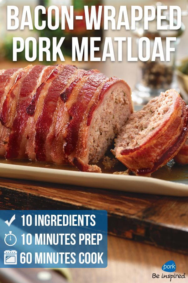 Comfort Food To The Max With Only Ten Minutes Prep Time Ground Pork Recipes Pork Meatloaf Food