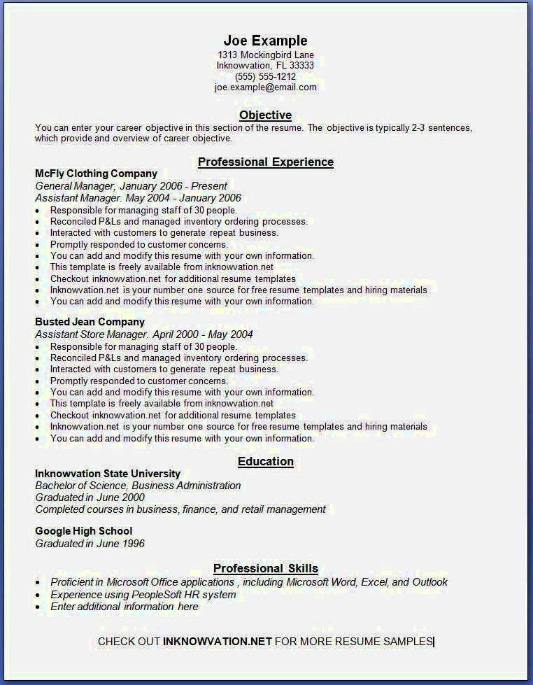 Resume Examples Printable (With images) Resume examples