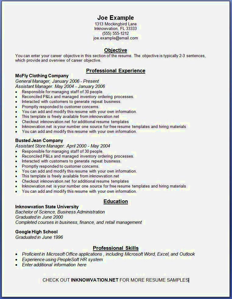Resume Examples Printable Resume Templates Resume Examples Job Resume Examples Free Resume Examples