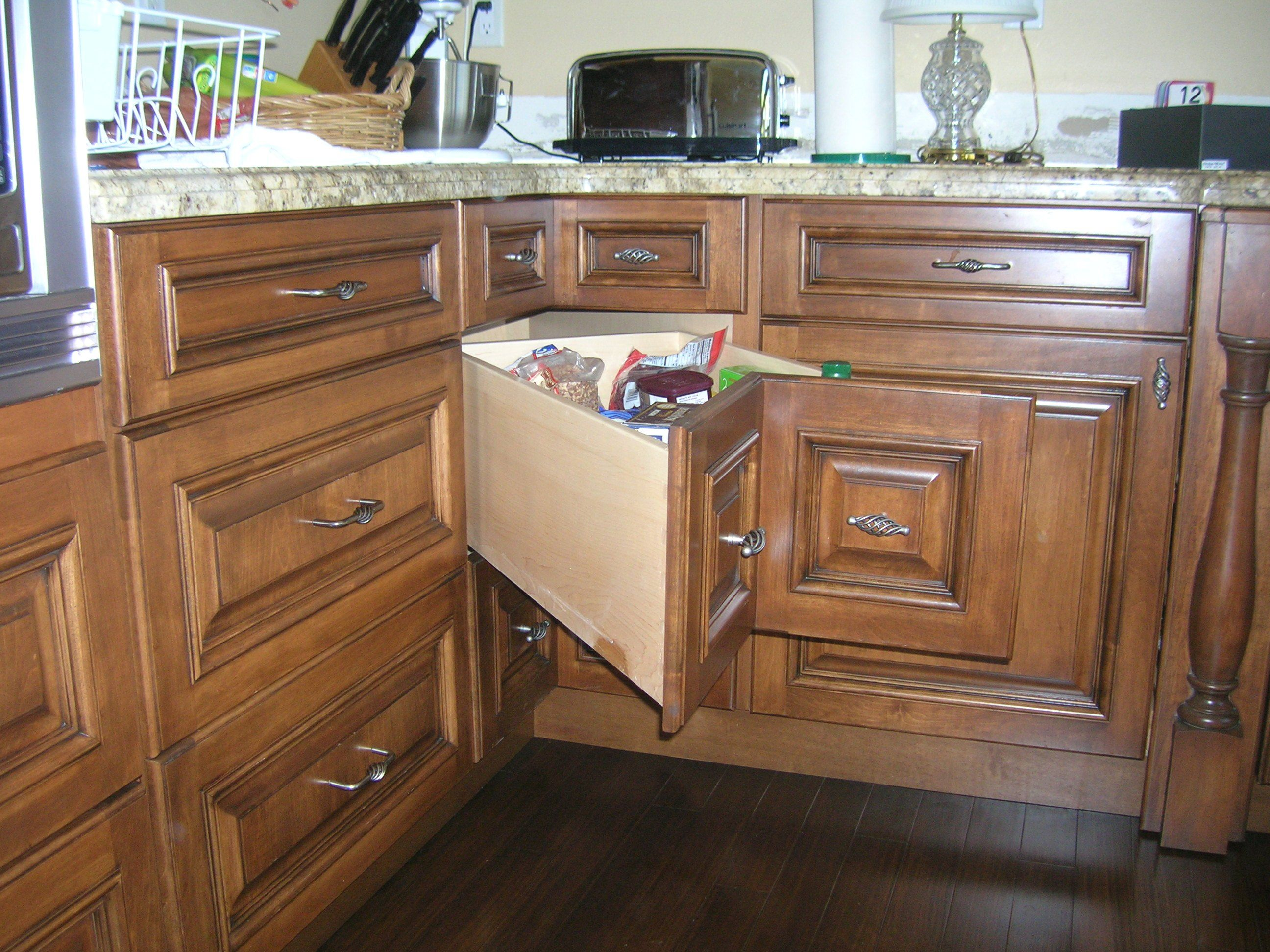 Best Corner Cabinet Storage Solution Kitchen Remodel Corner 400 x 300