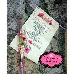 Quinceanera Scroll Invitations Sweet 15 Invites