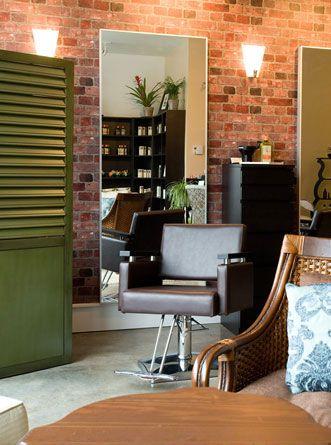 Another Brick Wall Organic Salon Decor Salons