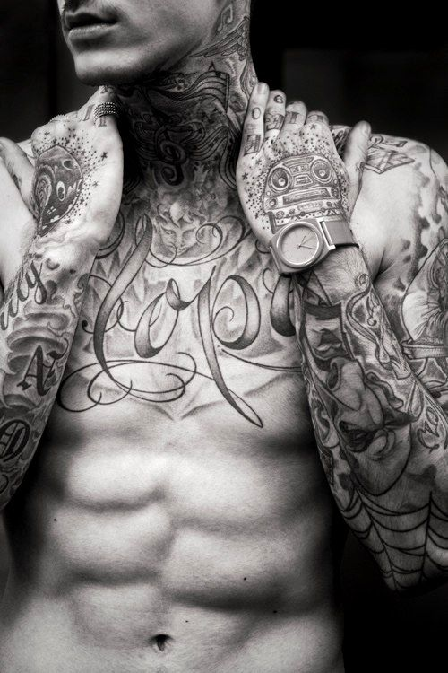 Breastplate Muscle Sleeve Tattoo Art Tattoos For Guys
