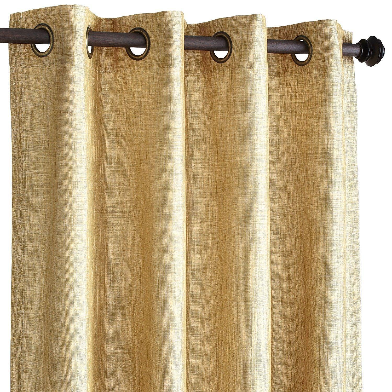 Shimmer Gold 84 Grommet Curtain