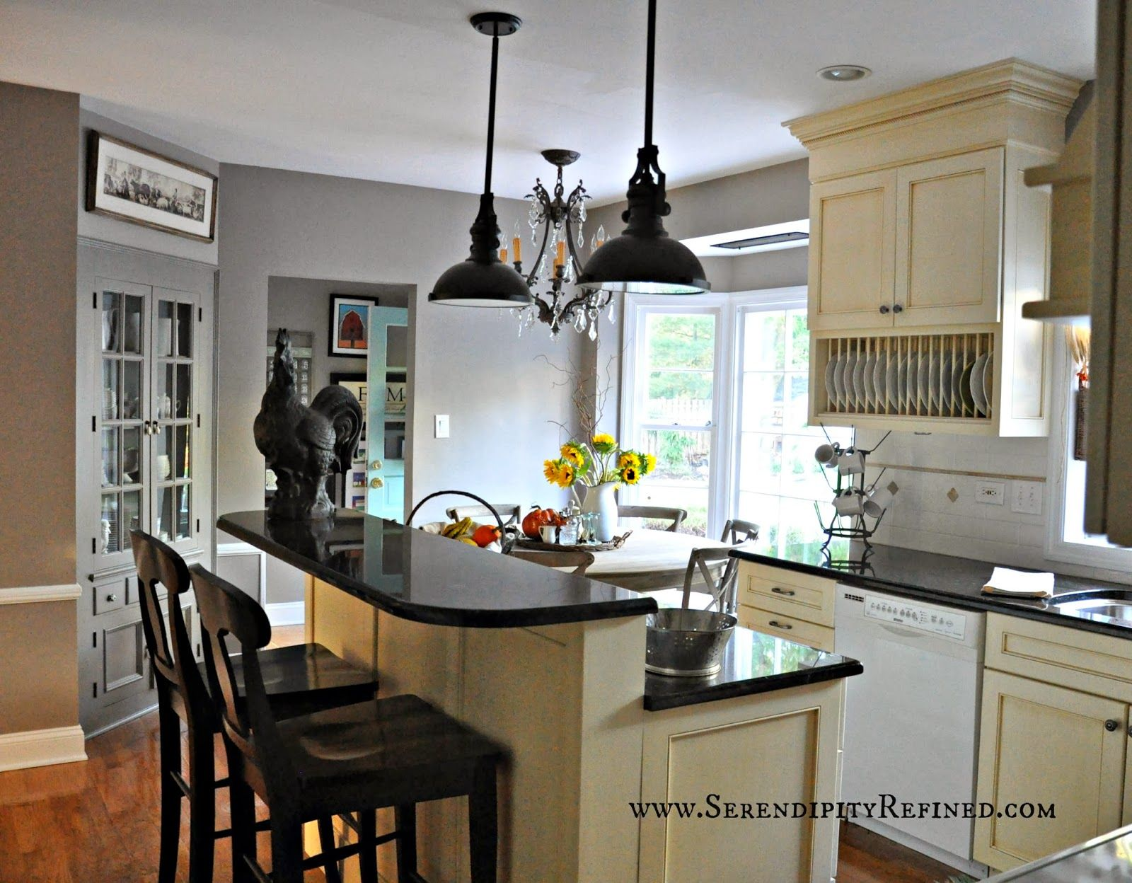 Serendipity refined french farm house kitchen progress paint and