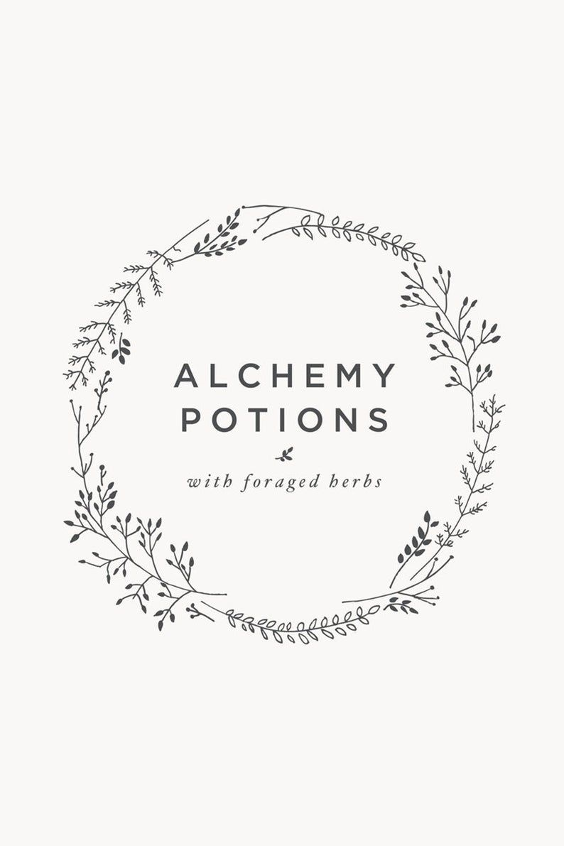 Floral wreath logo template Instant download logo
