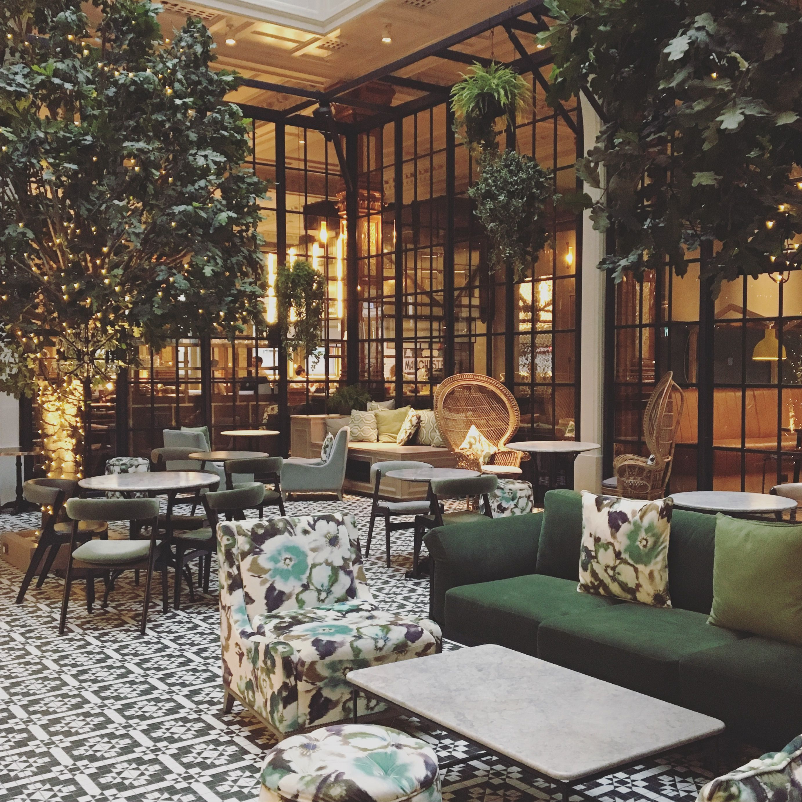 Winter Garden in the Refuge bar at The Principal Hotel Manchester