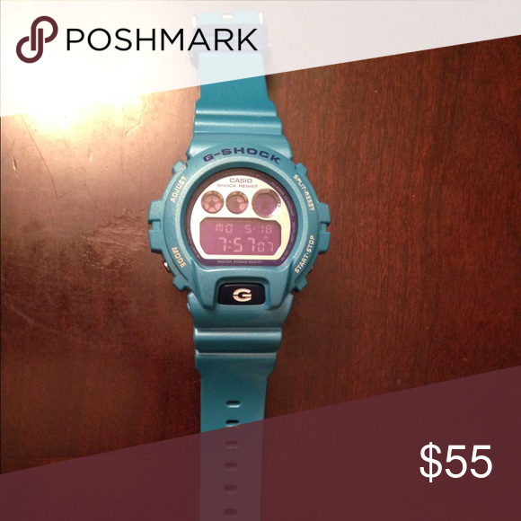 G-Shock watch Teal colored digital Casio G-Shock watch in excellent condition G-Shock Accessories Watches