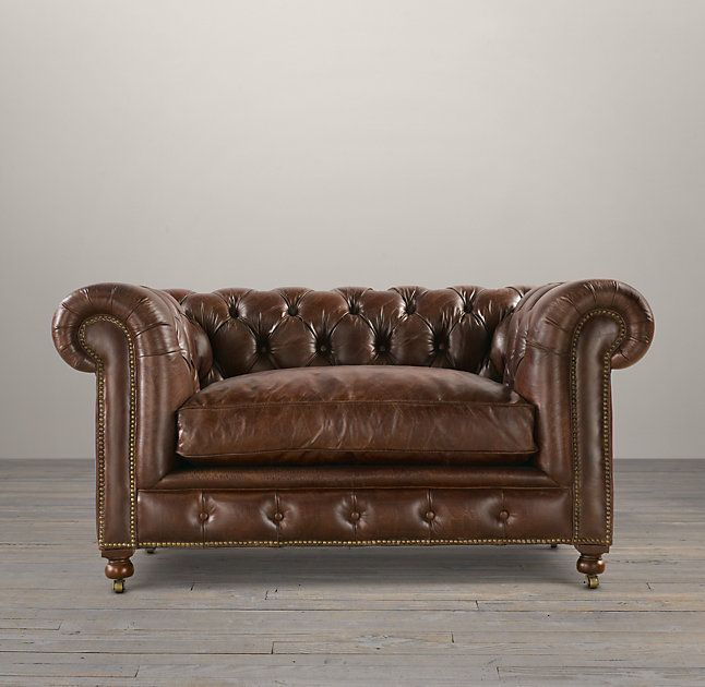 Rh 39 S 60 Amp 34 Kensington Leather Sofa A Masterful Reproduction By Timothy Oulton Of The Classic Ches Leather Sofa Living Room Redesign Mission Furniture