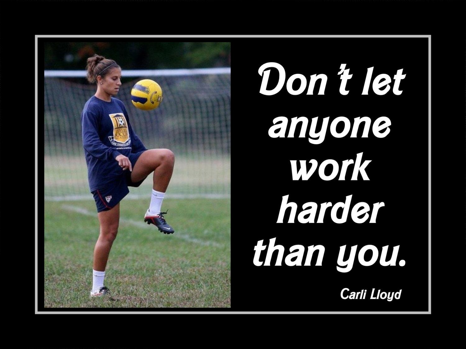 Carli Lloyd Quotes Carli Lloyd Hard Work Wall Art Motivation Poster Soccer Wall