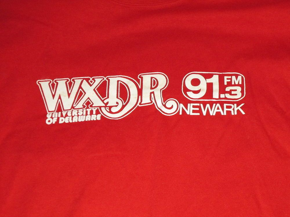 WXDR University Of Delaware Radio Station shirt 1980s 91.3 FM Newark large red #JerzeesbyRussell1980s #GraphicTee