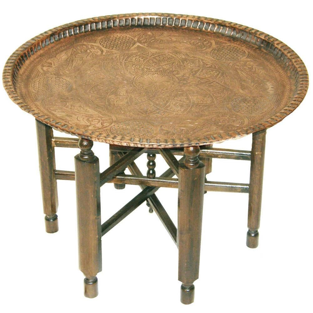 Coffee Table Copper Tray: This Is A Classic Middle Eastern Table, Used In Tents By