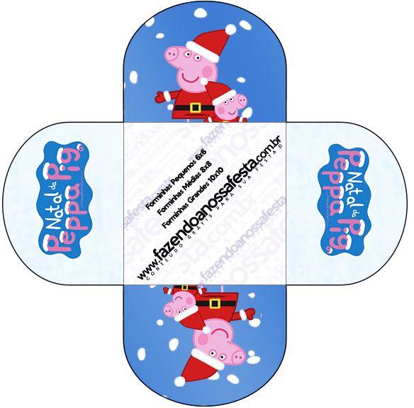 Forminhas Docinhos Redonda Peppa Pig Natal