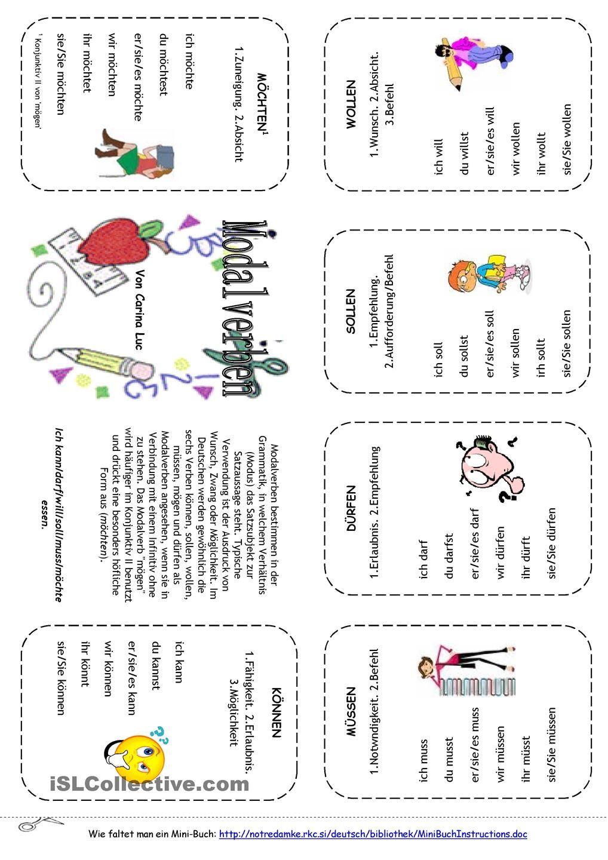 Modalverben Mini-Buch | Pinterest | Modalverben, Buecher und Deutsch