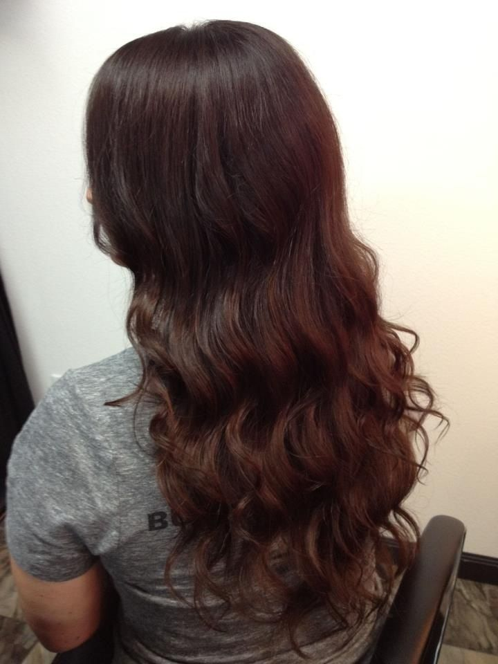 chestnut brown hair with waves emerald city hair studio