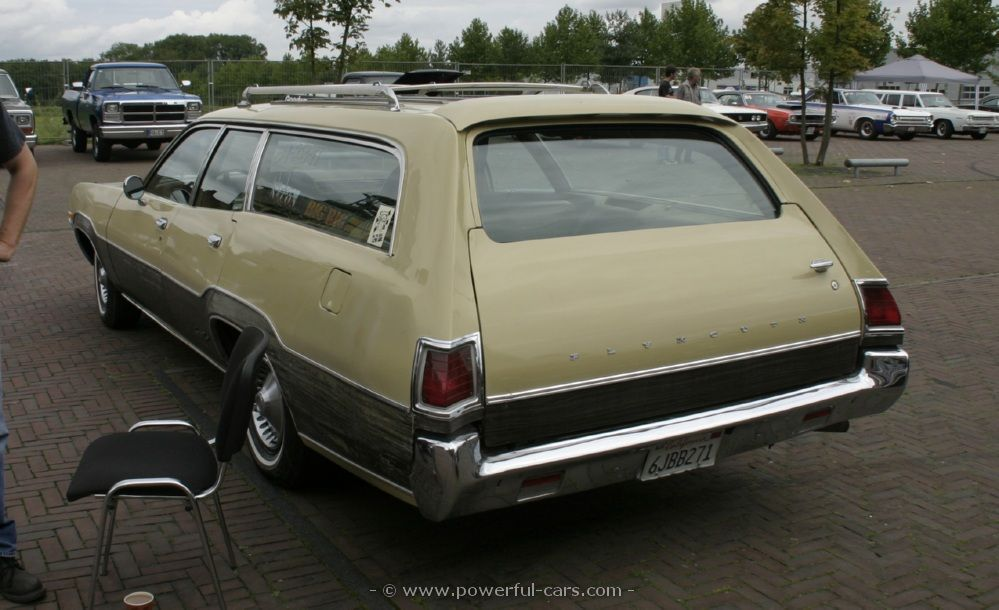1973 Plymouth Satellite Regent  wagon left rear side view