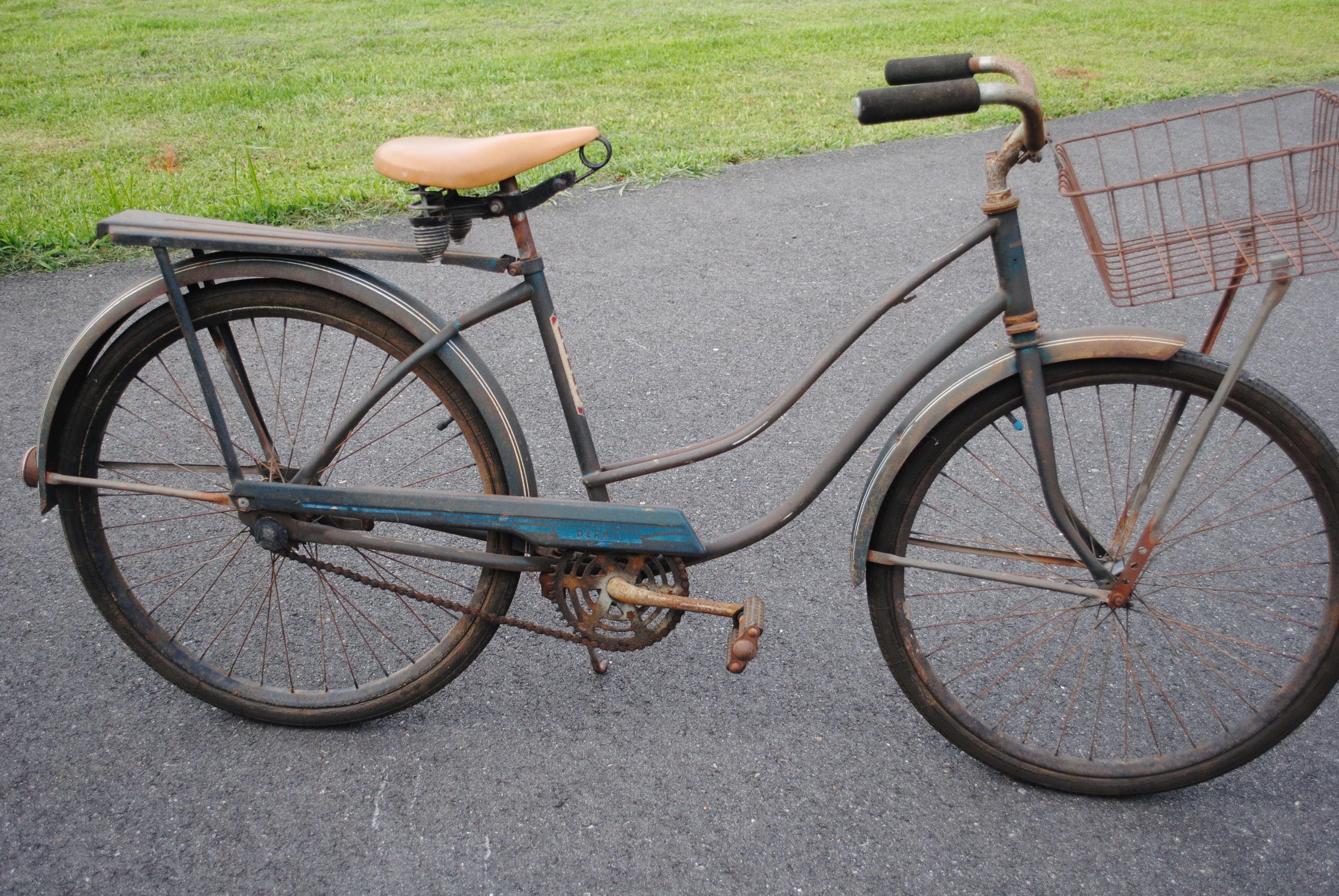 Derby girls bike all original with basket on Craigslist