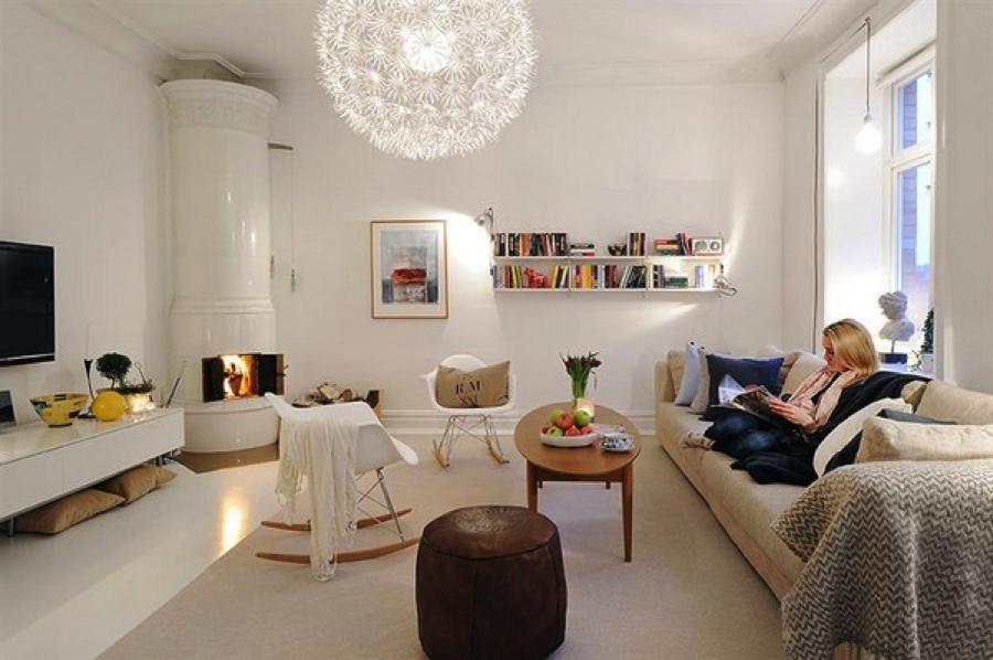 Skandinavisches Wohnzimmer ~ Skandinavische wohnzimmer designs mit einem hypnotisierendem