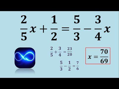 Ecuación De Primer Grado Con Fracciones Ejercicio 1 Primeros Grados Fracciones Ecuaciones