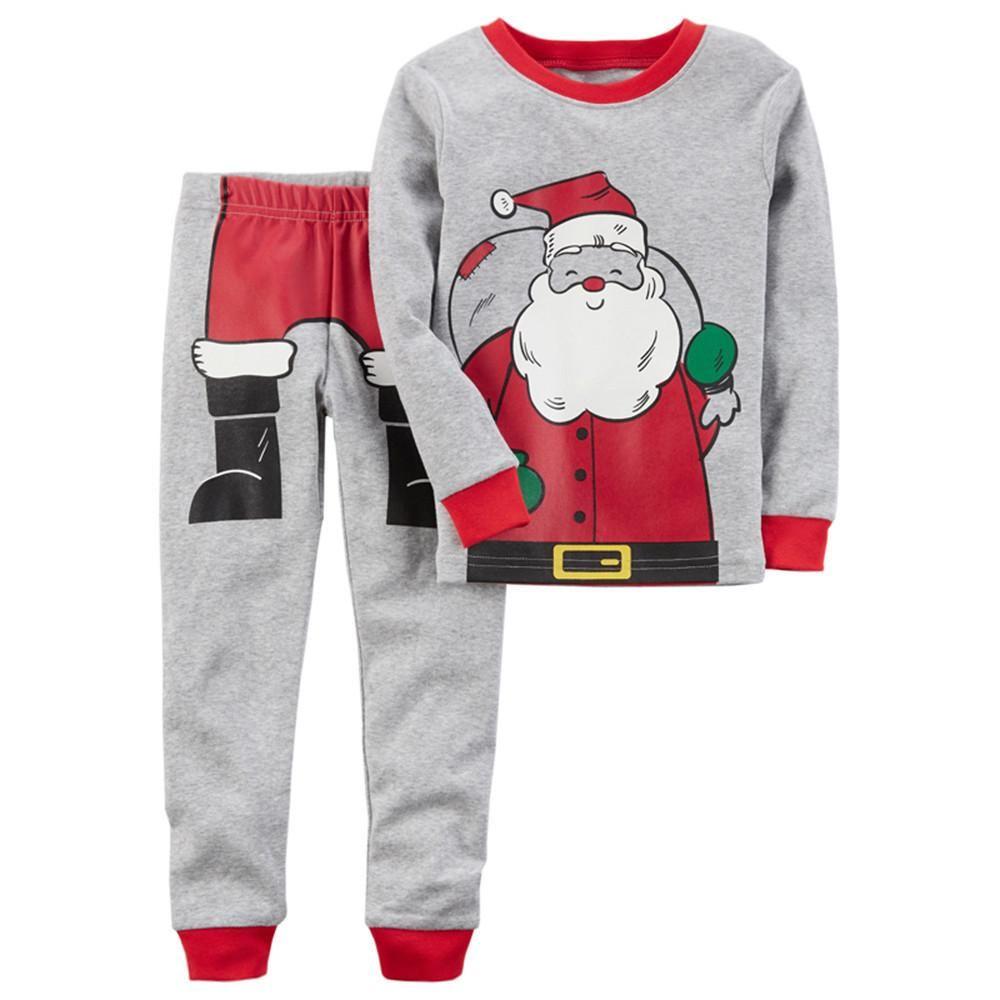 Christmas Santa Claus Pajama Set for Boys   Boy Clothes   Pinterest ...