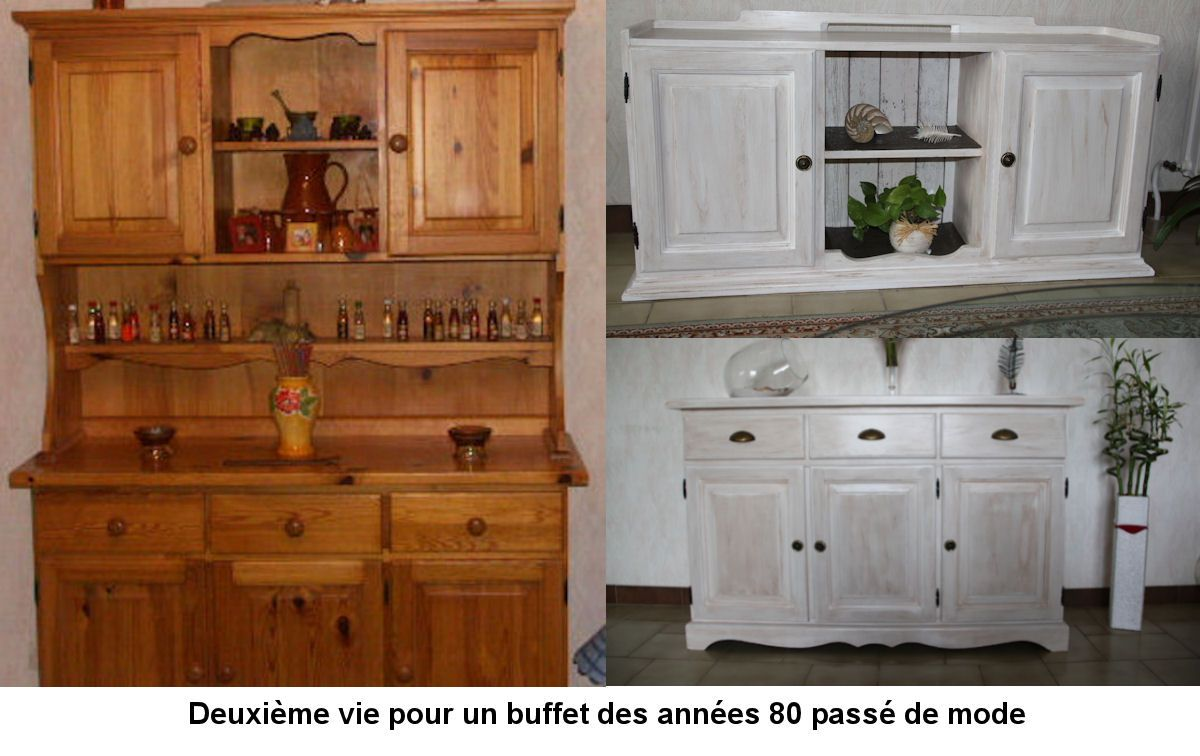Relooking D Un Buffet En Pin Instructions De Vorher