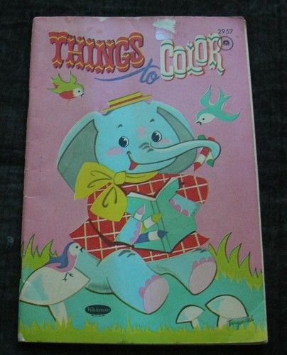 THINGS TO COLOR Vintage Whitman Coloring Book 1959 Unused ...