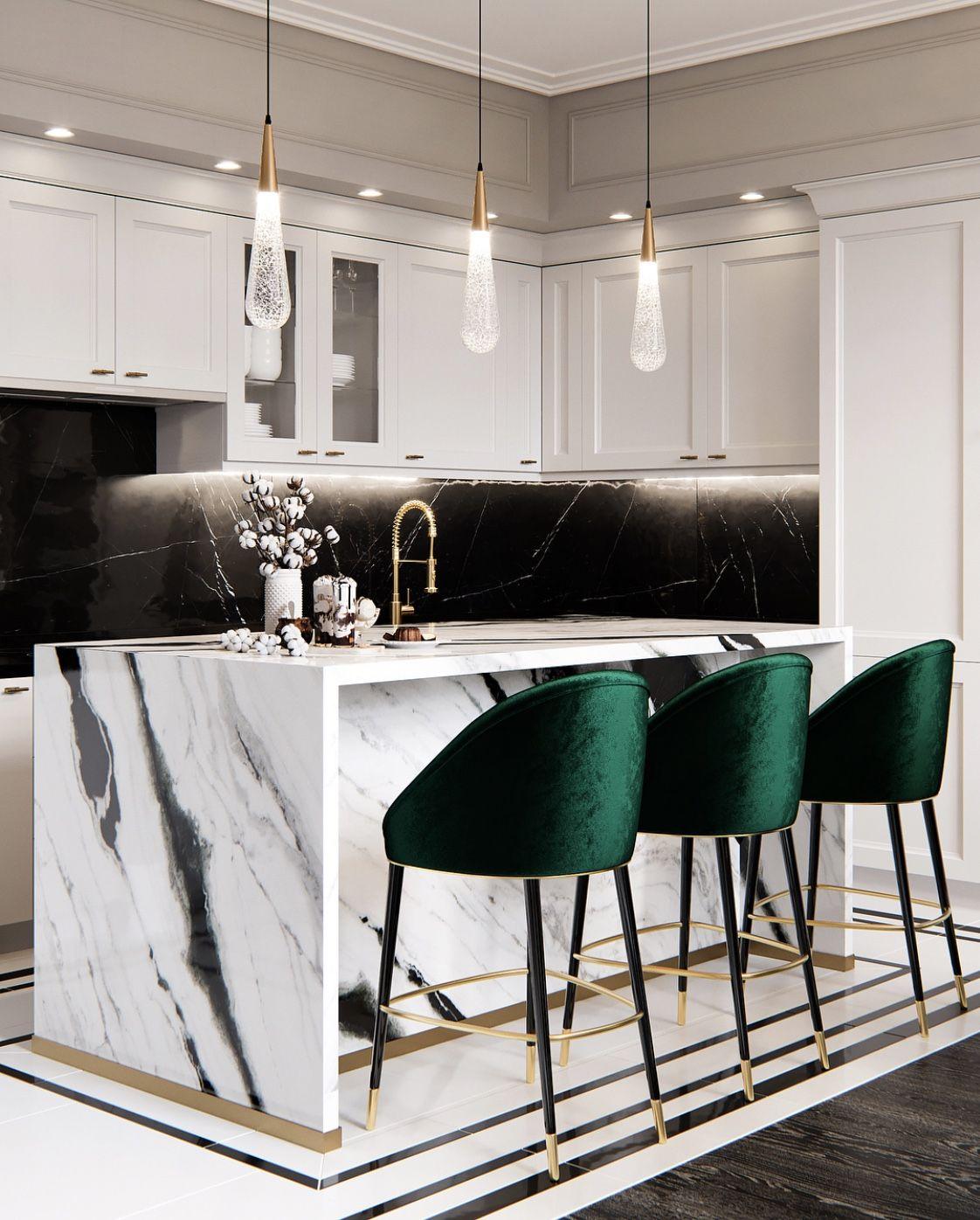Emerald Marble Kitchen Decor Modern Home Interior Design Home Decor Kitchen