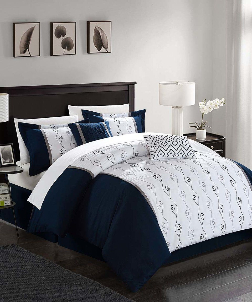 Look what I found on #zulily! Chic Home Design | Navy Altair ...