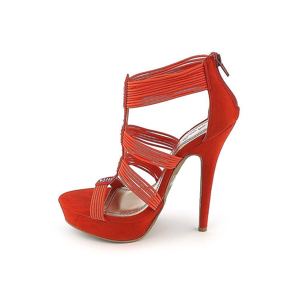 NEW Sexy Rhinestone High Heels Ankle Strappy Stilettos Platform Sandals Pumps #AnneMichelle #Stilettos