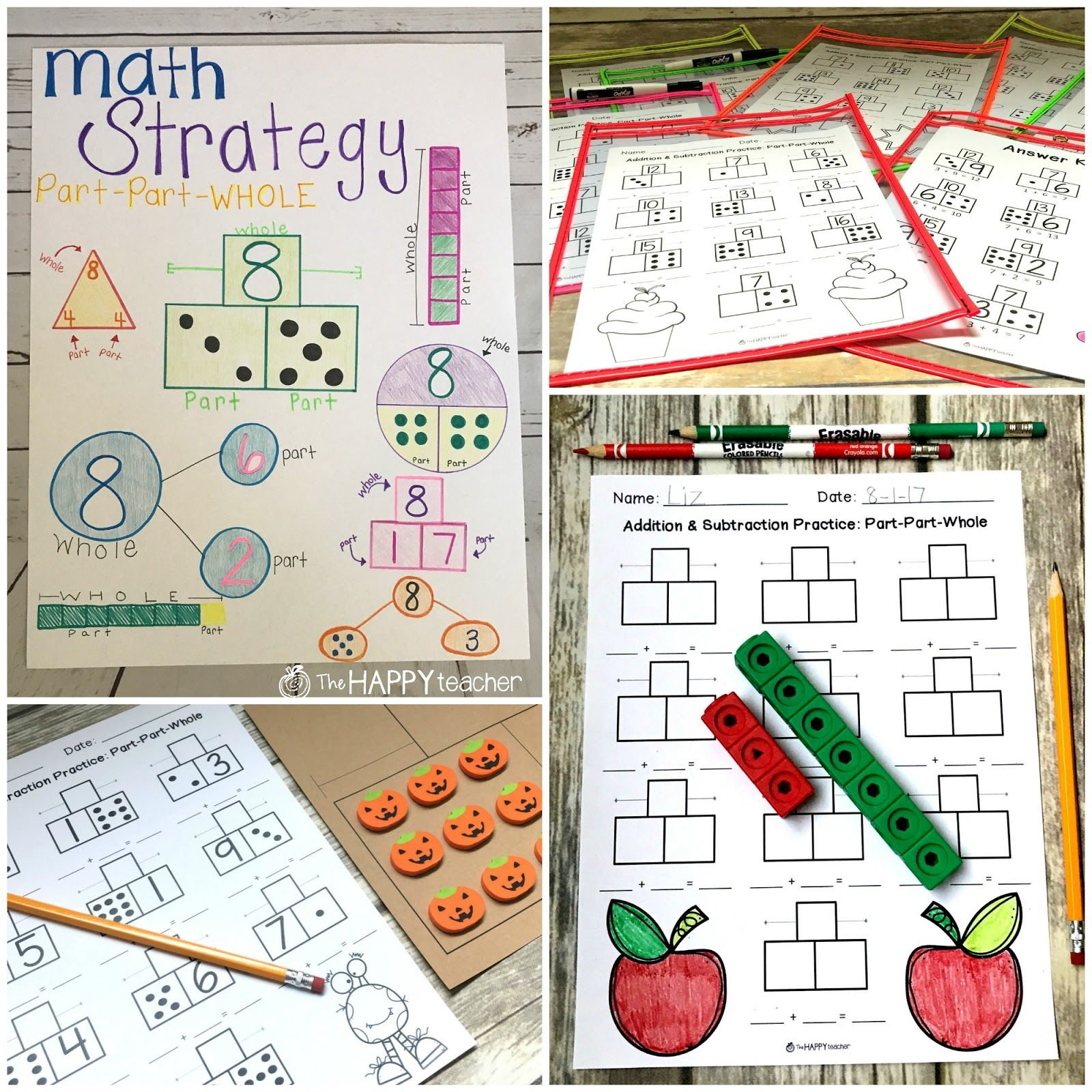 Activities And Worksheets For Teaching Part Part Whole