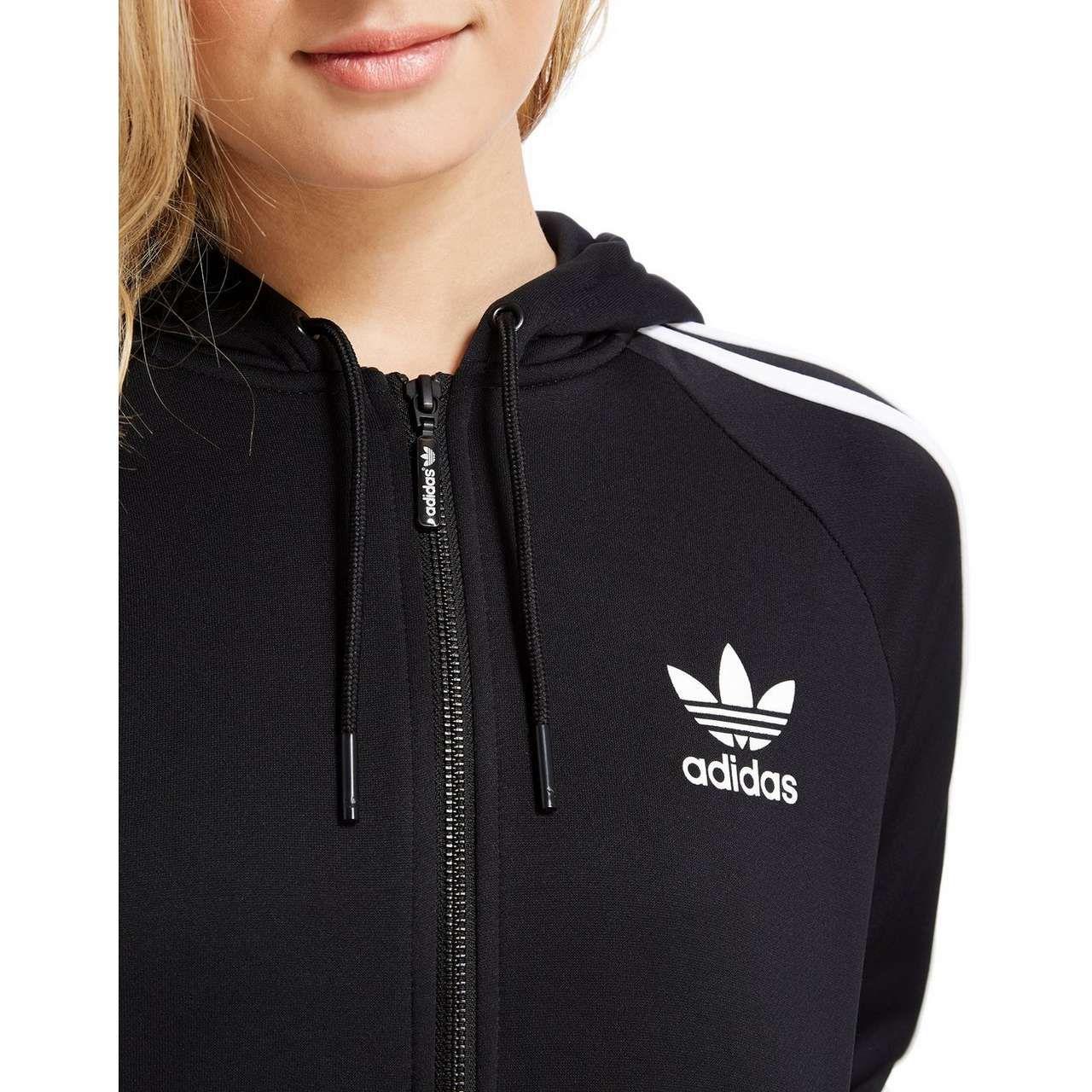 05652522 adidas Originals Poly Full Zip Hoody | Clothes wish list | Full zip ...