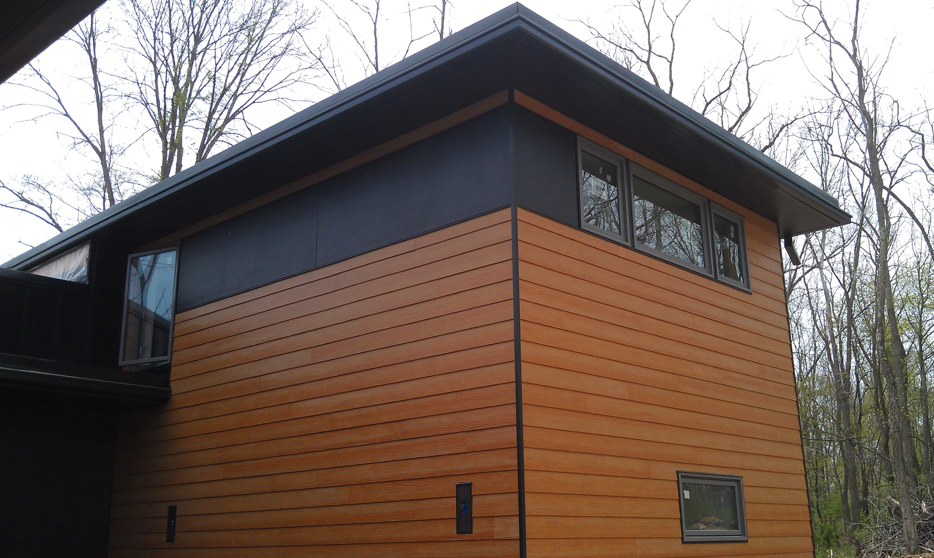 Certainteed Fiber Cement Siding Maple Or Cedar Stain Finish Not Listed By Source In 2020 Fiber Cement Siding Cement Siding House Cladding
