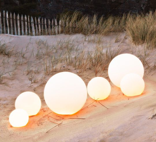 boule lumineuse led jardin 20 cm sans fil immo mer. Black Bedroom Furniture Sets. Home Design Ideas