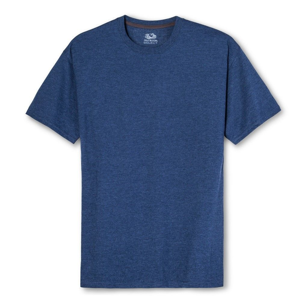 6014a6da6 Fruit of the Loom Select Men's Short Sleeve T-Shirt - Liberty Blue Heather,  Size: Large